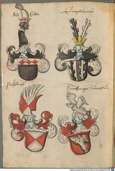 Wappen deutscher Geschlechter Augsburg ?, 4. Viertel 15. Jh. Cod.icon. 311  Folio 65v
