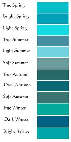 Turquoise guide  (for all seasons) from: Chic Colors For The Girls