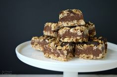 Healthy No Bake Fudge Oatmeal Bars- An Oregon Cottage - We made these with chia instead of flax seeds, and almond instead of peanut butter. They are addictive!