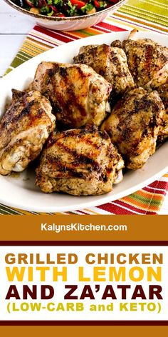 Sausage Recipes, Turkey Recipes, Fish Recipes, Dinner Recipes, Grilled Chicken Thighs, Grilled Chicken Recipes, Lemon Chicken, Best Low Carb Recipes, Dairy Free Recipes