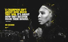 """We love Serena Williams Liked · 14 hours ago """"A champion isn't about how much they win, it's about how they recover from their downs. Tennis Rules, Tennis Tips, Manny Pacquiao, Rafael Nadal, Maria Sharapova, Serena Williams, Roger Federer, How To Play Tennis, Tennis Online"""