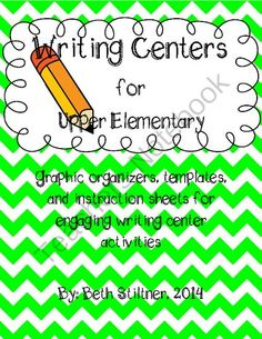 Writing Centers from cbstiltner on TeachersNotebook.com -  (39 pages)  - Writing Centers grades 3-5