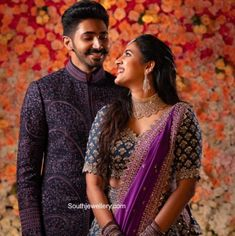 Niharika Konidela and Chaitanyas engagement jewellery! photo Engagement Couple Dress, Indian Engagement, Engagement Jewelry, Banarsi Saree, Lehenga, Wedding Goals, Destination Wedding, Engagement Hairstyles, Indian Wedding Couple Photography