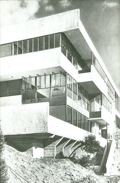 The Lovell Health House, Richard Neutra, architect Richard Neutra, Bauhaus, Architecture Details, Interior Architecture, Amsterdam, Art Deco, Famous Architects, Interesting Buildings, Worlds Of Fun