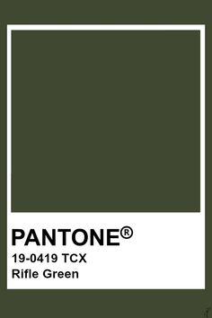 Pantone Rifle Green Pantone Green, Pantone Colours, Pantone Colour Palettes, Pantone Number, Pantone Tcx, Desert Colors, Earthy Color Palette, Diy Backdrop, Pallet Painting