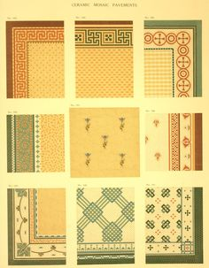 I've been digging thru period catalogs again. I ran across a color Minton Tile catalog from c. 1905 that is quite stunning. Art And Craft Design, Art Deco Design, Tile Design, Craftsman Style Kitchens, Craftsman Bathroom, Minton Tiles, 1920s Interior Design, Tiled Hallway, Craftsman Bungalows