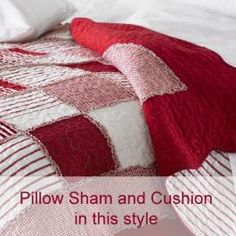 red quilted pillowsham