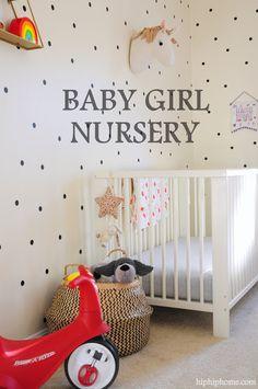 BABY GIRL'S NURSERY NOOK - HIP HIP HOME! Nursery Nook, Girl Nursery, Nursery Decor, Ikea Crib, Whimsical Nursery, Hip Hip, Nursery Neutral, Cribs, Mattress