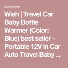 Wish | Travel Car Baby Bottle Warmer (Color: Blue) best seller - Portable 12V in Car Auto Travel Baby Food Milk Water Bottle Cup Warmer Heater SU