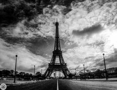 Photograph 346 of 365. Eiffel Tower Black & White by Tanner Wendell Stewart on 500px
