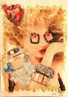 Surreale Kunst - Dada Art - Collage -Glamour