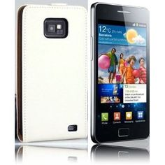 [£7.99] Genuine Leather Ultra Slim Flip Case White For SAMSUNG GALAXY S2 S-II i9100 Mobile Phone with FREE 2 x Clear Screen Protector [Amazon]