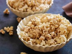 Popcorn is a low-fat, high-fiber treat. Just a hint of sugar and some coconut oil add a lot of flavor for not so many calories.