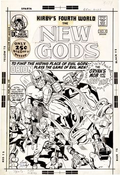 the cover to The New Gods (1971) #4 by Jack Kirby and Vince Colletta