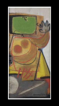 "Corneille - ""Untitled "", 1950 - Oil on canvas - 52,5 x 24,5 cm (*)"