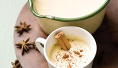 Drink in the flavours of the East Indies with vanilla, cinnamon and nutmeg infused into custard milk with a tot of rum! Eggnog Ingredients, Yummy Drinks, Delicious Desserts, Baking Recipes, Snack Recipes, Creative Snacks, Eggnog Recipe, Vanilla Custard, Warm Food