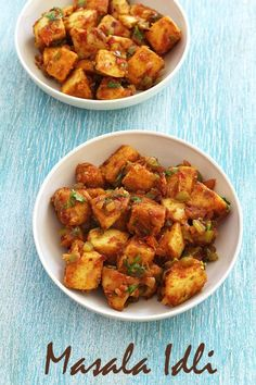 Masala idli recipe - QUICK and EASY recipe using leftover idlis. The tasty masala is made from onion, capsicum and tomatoes with flavor of pav bhaji masala. Veg Recipes, Indian Food Recipes, Vegetarian Recipes, Snack Recipes, Cooking Recipes, Healthy Recipes, Ethnic Recipes, Vegetarian Appetisers, Dinner Recipes