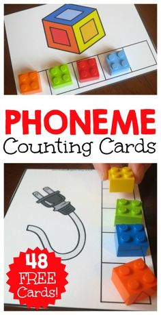 Listening for and counting phonemes in words can be a challenge for kids. These FREE phoneme counting cards, help kids SEE the phonemes they hear. Phonological Awareness Activities, Phonics Activities, Reading Activities, Teaching Reading, Guided Reading, Phonemic Awareness Kindergarten, Reading Practice, Kindergarten Literacy, Preschool