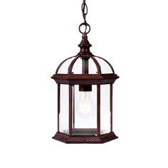 Acclaim Lighting Dover Collection Hanging Outdoor 1-Light Burled Walnut Lantern-5276BW - The Home Depot