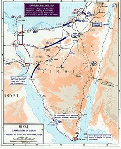 October 22, 1956 – Suez Crisis: Britain, France, and Israel secretly meet in and make plans to invade Egypt.