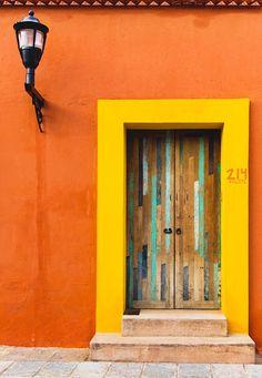 Door from Oaxaca by Gustavo Márquez - Photo 257252233 / Cool Doors, Unique Doors, Ideas Cabaña, Doors Galore, Types Of Doors, Painted Doors, Door Knockers, Doorway, Windows And Doors