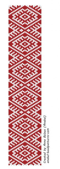 Free peyote pattern for Christmas bracelet from Anabel | Beads Magic