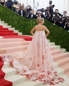 Pin for Later: You Won't Truly Appreciate the Beauty of These Met Gala Gowns Until You See Them From the Back Blake Lively In Burberry.