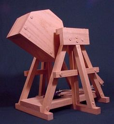 Oak Working Model Trebuchet Catapult