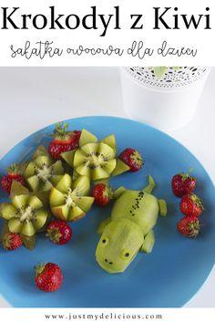 Krokodyl z Kiwi - Just My Delicious Breakfast Snacks, Breakfast For Kids, Salads For Kids, Food Art For Kids, Cute Food, Kiwi, Fruit Salad, Food Styling, Kids Meals