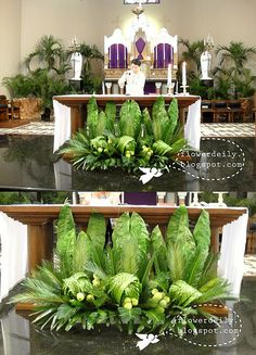 easter decorations for church sanctuary | Palm Sunday Church Flower Decor 2013