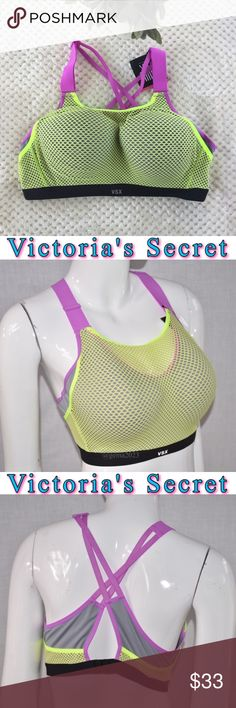 New!Victoria's Secret Incredible Sport bra 38D Incredible Sport bra maximum support NEW   ❤️Cushioned , Ajustable back closure is re-engineering for easier back closure on & off. ❤️Adjustable straps  ❤️Cushioned flexible underwire.Lighter, more Breathable padding .Body-Wick keeps you cool & dry Victoria's Secret Intimates & Sleepwear Bras
