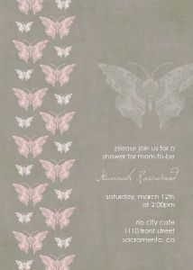 Mixbook Lace Silhouette Girls Baby Shower Invitations