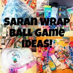 Saran Wrap Ball Game Gift Ideas – Raising These Kentucky Seeds familyreuniongames Christmas Games For Family, Holiday Games, Christmas Party Games, Holiday Fun, Xmas Games, Christmas Activities, Holiday Crafts, Seran Wrap Game, Christmas Balls