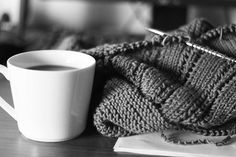 hot tea and knitting and reading.