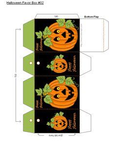 FREE Printable Halloween Favor Boxes
