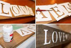 Carteles de madera para bodas