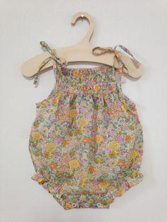 Baby romper  Liberty fabric