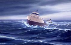 Nov 10, 1975, the SS Edmund Fitzgerald sinks in Lake Superior, killing all 29 crew members on board. It was the worst single accident in Lake Superior's history.