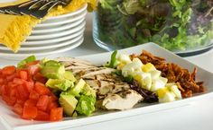 Classic California Cobb Salad - Vine Ripe Tomatoes, Avocados, Grilled Chicken Breast, Boiled Eggs and a little BACON!