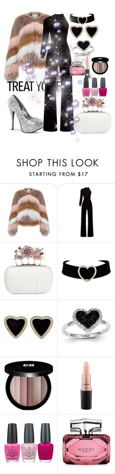 """Untitled #3360"" by princhelle-mack ❤ liked on Polyvore featuring Urbancode, Vetements, Alexander McQueen, Kevin Jewelers, Edward Bess, MAC Cosmetics, OPI and Gucci"