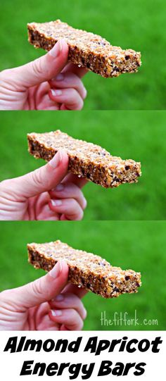 Almond Apricot Energy Bars are the perfect snack for lunch boxes or fueling runs, workouts and post-exercise recovery.