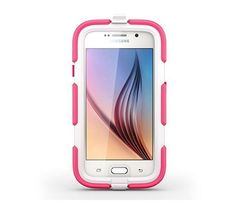 Survivor All Terrain and Belt Clip for Samsung Galaxy S6 Pink White Drops Dust #GriffinTechnology