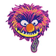 Embroidered Iron On or Sew On Patch freak! Purple on Black