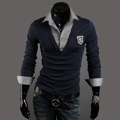 >> Click to Buy << new 2017 spring men's slim faux two piece camisa casual men fashion t shirt brand high quality t-shirts #Affiliate