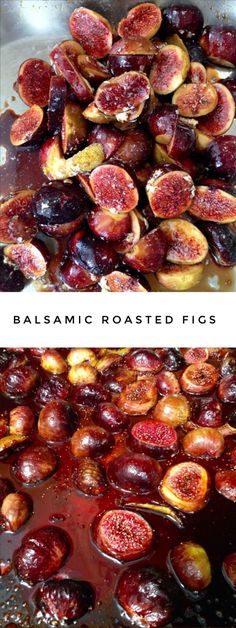 Honey Balsamic Roasted Figs Recipe with Lemon and Vanilla Balsamic Roasted Figs Recipe Figs With Honey, Honey Lemon, 13 Desserts, Plated Desserts, Roasted Figs, Good Food, Yummy Food, Healthy Snacks, Fig Recipes Healthy