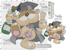 A través de kerry h fizzy moon graduation Cross Stitch For Kids, Cross Stitch Books, Just Cross Stitch, Cross Stitch Animals, Cross Stitch Kits, Cross Stitch Charts, Cross Stitch Designs, Cross Stitch Patterns, Cross Stitching
