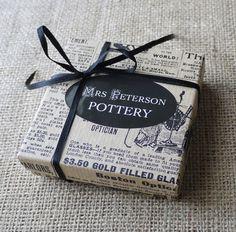 Alphabet Porcelain Earrings, Mrs Peterson Pottery. $39.00, via Etsy.