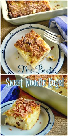 Not My Mama's Noodle Kugel is pleasantly sweet with a touch of cream cheese, sour cream and a dash of raisins. Sweet Noodle Kugel is our family's favorite! Made with eggs, sour cream, cream cheese and cottage cheese, it sure beats my mom's! Passover Recipes, Jewish Recipes, Passover Meal, Kosher Recipes, Cooking Recipes, Cooking Blogs, Cooking Classes, Cooking Bacon, Cooking Games