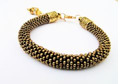 """by SHINE.  """"OLD GOLD """" Magic bead  BRACELET from Jewellery with a Touch of Magic bySHINE by DaWanda.com"""