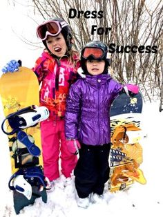 The most important piece of gear for your kids are those things that will keep them warm! - How to Dress for Success on the slopes!